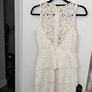 Ivory lace BCBG Max Azria Dress
